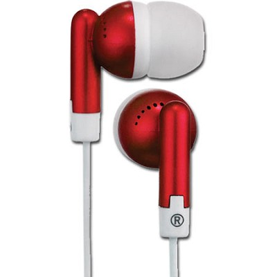 HP61RD Squish 9 MM Stereo Earbuds (Red)