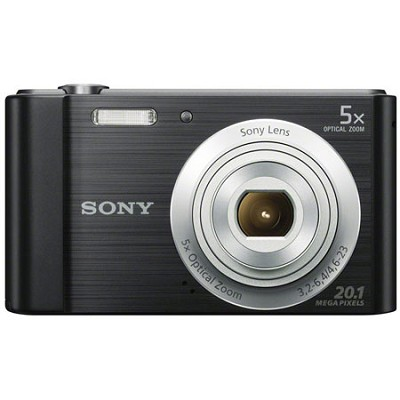 DSC-W800/B Point and Shoot Digital Still Camera - Black - OPEN BOX