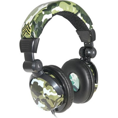Soldier Noise Isolating Headphones - Green Camouflage