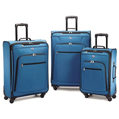 Pop Plus 3 Piece Nested Spinner Luggage Set (Moroccan Blue) - 64590-2551
