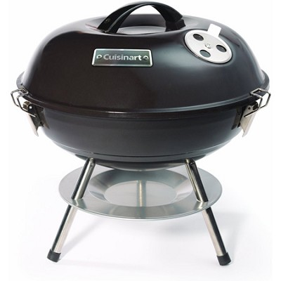 Portable Charcoal Grill, 14-Inch, Black - CCG-190 - OPEN BOX