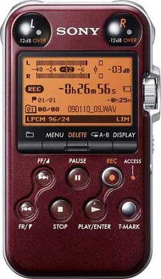PCMM10 Portable Audio Recorder (Glossy Red) - REFURBISHED