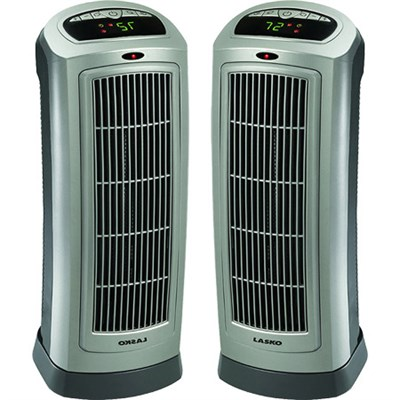 2-Pack Ceramic Tower Heater with Digital Display & Remote Control - 755320
