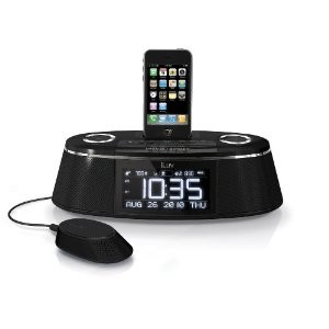 imm178 Vibe Plus Dual Alarm Clock with Bed Shaker for iPod and iPhone (Black)