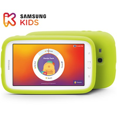 Galaxy Tab 3 Lite Kids Edition 7.0` 8GB Wi-Fi (White w/ Green Bumper)
