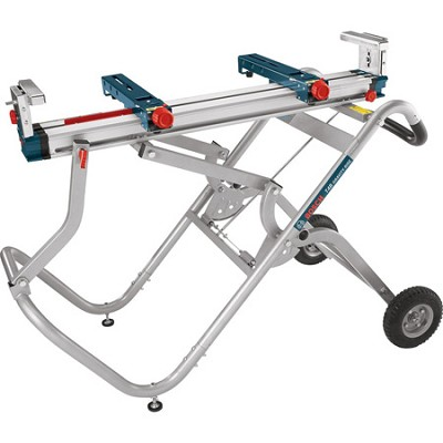Gravity-Rise Wheeled Miter Saw Stand