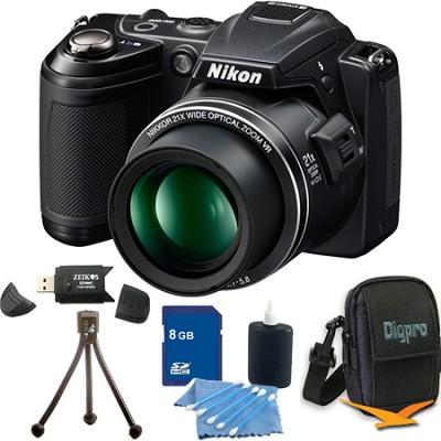 COOLPIX L120 Black Digital Camera 8GB Bundle