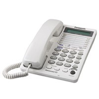 KX-TS208W 2 Line Corded Telephone with 16 Digit LCD With Clock & Speakerphone