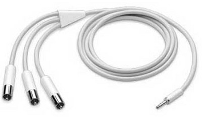iPod AV cable (Streams your ipods audio/video to any TV)