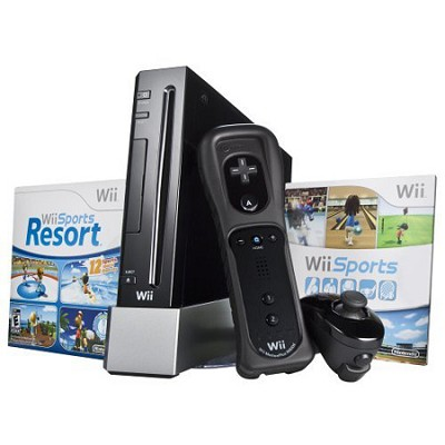 Wii System w/ Resort & Remote Plus - Black Bundle