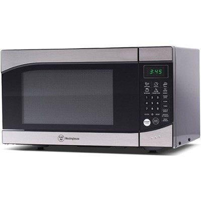 900W Counter Top Microwave Oven/Stainless Steel Front, Black - OPEN BOX