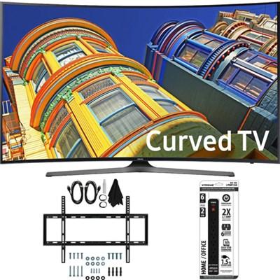 UN55KU6500 - Curved 55-Inch 4K Ultra HD LED Smart TV w/ Slim Wall Mount Bundle