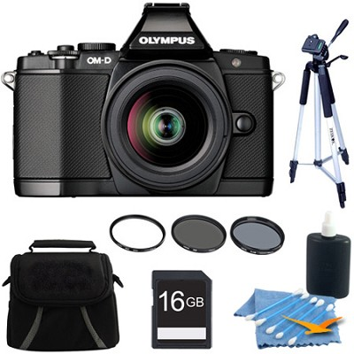 OM-D E-M5 BLK 14-42mm Black Digital SLR Camera 16GB Kit