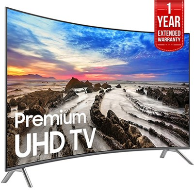 64.5` Curved 4K Ultra HD Smart LED TV 2017 Model  with Extended Warranty