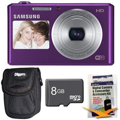 DV150F Dual-View 16.2 MP Smart Camera with Built-in Wi-Fi Plum 8GB Kit