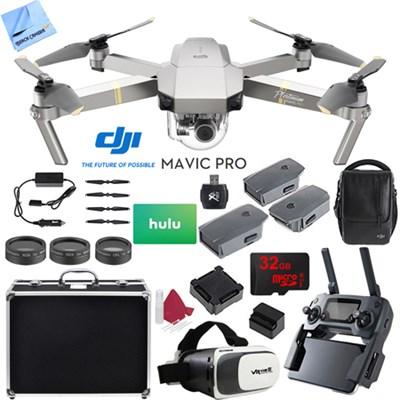 Mavic Pro Platinum 4K Camera Quadcopter Drone 2 Extra Batteries Super Pack