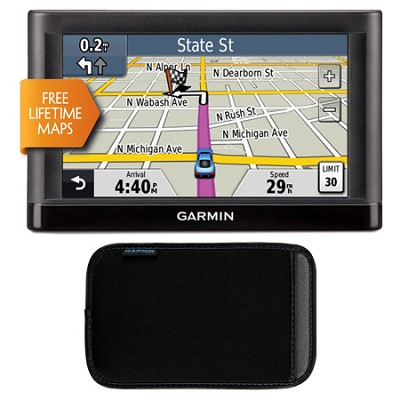 nuvi 52LM 5.0` GPS Navigation System with Lifetime Map Updates Case Bundle