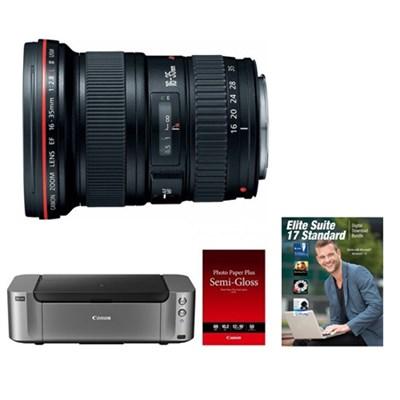 EF 16-35mm f/2.8L II USM Ultra Wide Angle Lens Kit w/ Pro 100 & 50-Pack Paper