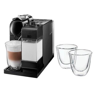 Lattissima Plus Capsule Espresso/Cappuccino Machine   w/ Glasses, Set of 2