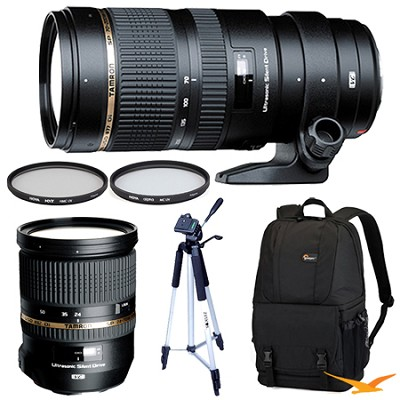 SP 70-200mm DI VC USD Telephoto Zoom & SP 24-70mm f2.8 Lens Kit For Canon EOS