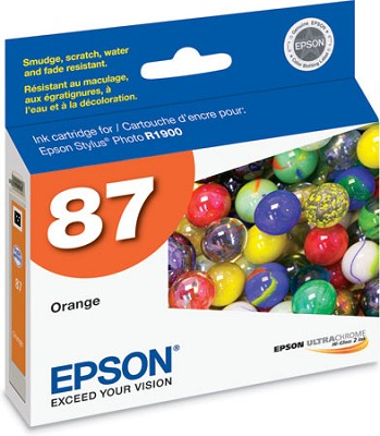 Orange Ink Cartridge for the R1900