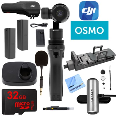 Osmo Handheld 4K Camera 32GB Dual Battery and Microphone Kit