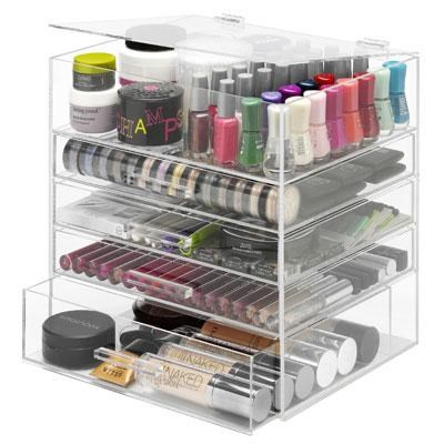 Extra-Large Cosmetic Organizer and Jewelry Storage Display Case - 6477-5512