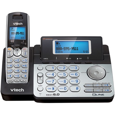 DS6151 DECT 6.0 2-Line Expandable Cordless Phone w/ Digital Answering System