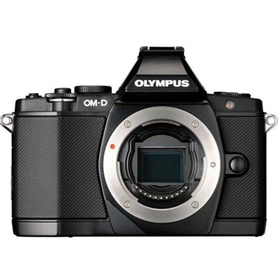 OM-D E-M5 16 MP Interchangeable Lens Camera Body (Black) Refurbished