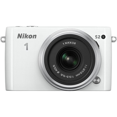 1 S2 Mirrorless 14.2MP Digital Camera with 11-27.5mm Lens - White