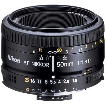 AF FX Full Frame NIKKOR 50mm f/1.8D Lens with Auto Focus + 5-Year USA Warranty