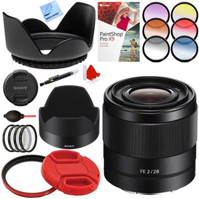 FE 28mm F2 E-mount Full Frame Prime Lens + Accessories Bundle