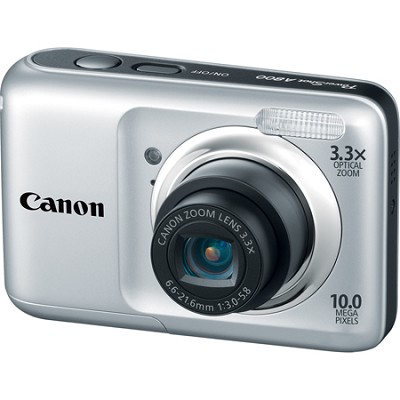 PowerShot A800 10MP Silver Digital Camera w/ 3.3x Optical Zoom