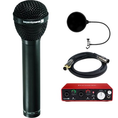Dynamic Microphone Hypercardioid Polar Patter,  Vocals, Drum w/ Interface Bundle