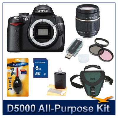 D5000 with Tamron 18-250mm Lens All Purpose value Photographer's Outfit