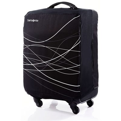 Foldable Luggage Cover, Large - Black - OPEN BOX