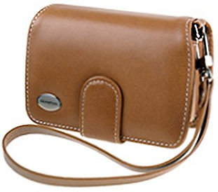 Premium Compact Leather Case (Light Brown)