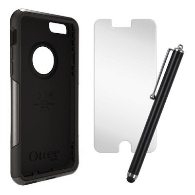 iPhone 6 Plus Commuter Series Case, Stylus & Screen Protector