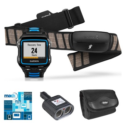 Forerunner 920XT Multisport GPS Watch w/ Heart Rate Monitor - Black/Blue Bundle