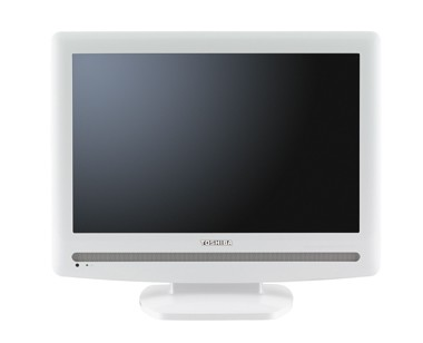 19AV501U - 19` High-definition 720p LCD TV w/ White Cabinet