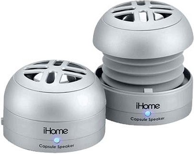 iHM77 Rechargeable Mini Speakers for iPod (Silver)