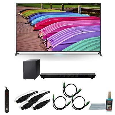 XBR70X850B - 70-Inch X850B 3D 4K Ultra HD TV Motionflow XR 240 Smart HDTV Bundle