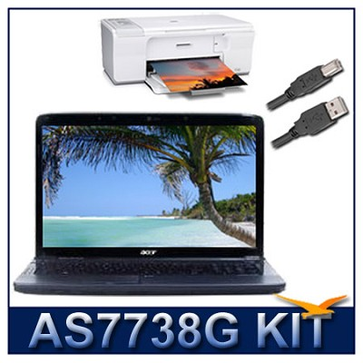 Aspire AS7738G17-inch Notebook PC (6006) With HP F4280 Printer Bundle