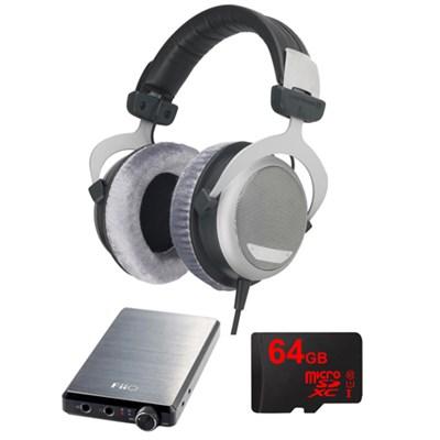 DT 880 Premium Headphones 250 OHM w/ FiiO A5 Amp Bundle