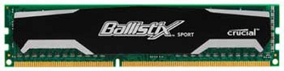 2GB, Ballistix 240-pin DIMM, DDR3 PC3-10600 memory module