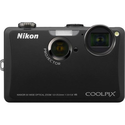 COOLPIX S1100pj Black 14MP Digital Camera w/ Projector - Refurbished