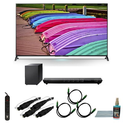 XBR65X850B - 65-Inch X850B 3D 4K Ultra HD Smart TV Motionflow XR 240 Bundle