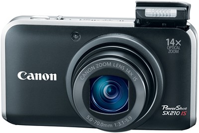 PowerShot SX210 IS 14MP 14x Zoom Digital Camera (Black)(Refurbished)
