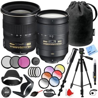 12-24mm F/4G ED-IF AF-S DX Zoom + 28-300mm f/3.5-5.6G ED VR AF-S NIKKOR Lens Kit