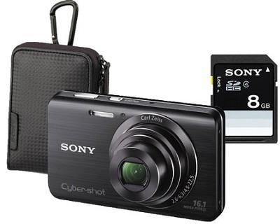Cyber-shot DSC-W650 16.1 MP Compact Digital Camera Bundle w/ Case and 8GB Card